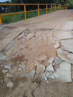 Baru Direhab Jembatan Desa Mayapati Rusak Lagi