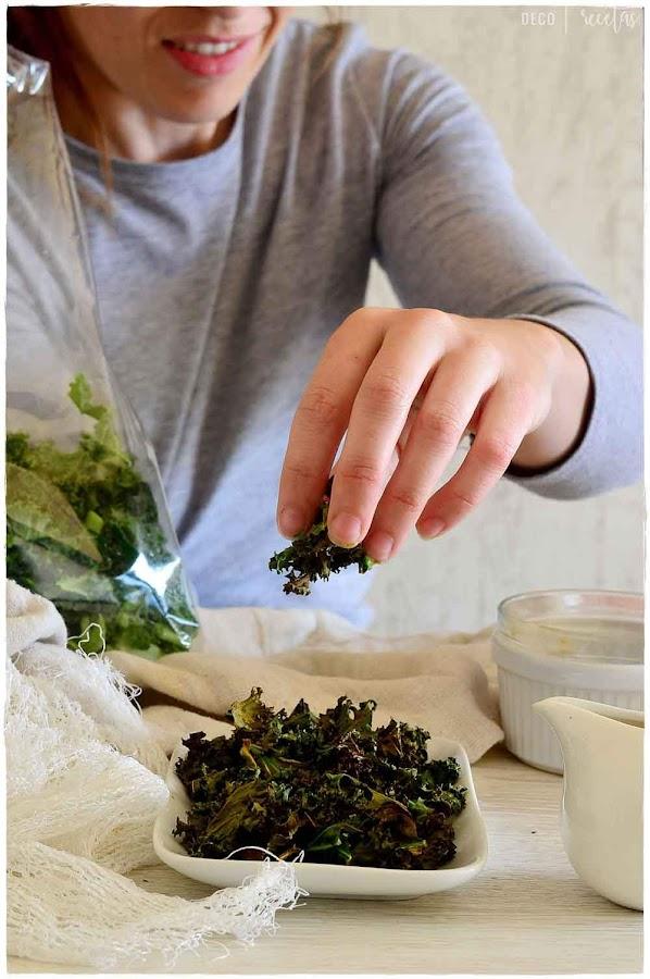 Kale al horno- lechuga Kale- Kale recetas thermomix- recetas con Kale veganas