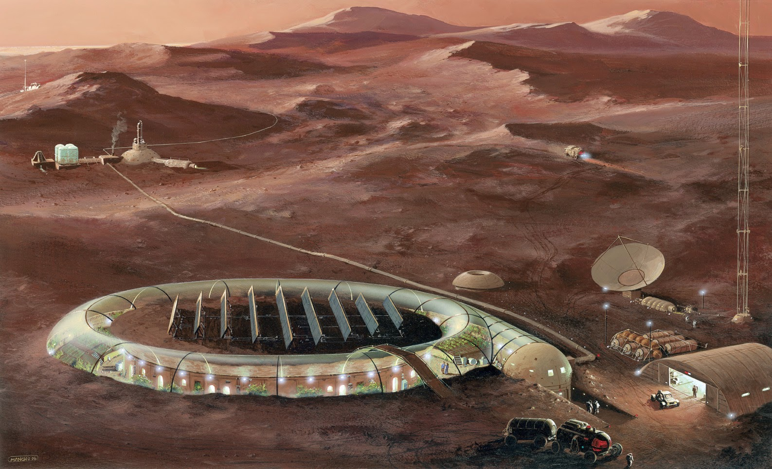Mars colony by Manchu