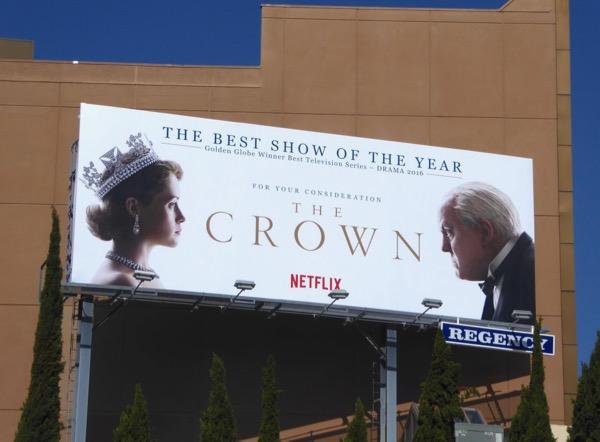 Crown season 1 Emmy FYC billboard