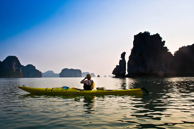 Kayaking -  The best way to explore the breathtaking nature of Halong Bay