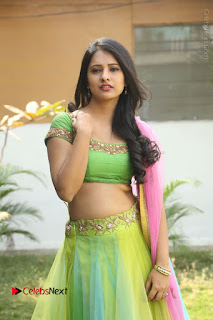 Actress Nikitha Bisht Stills in Lehenga Choli at Pochampally Ikat Art Mela Launch  0240.JPG