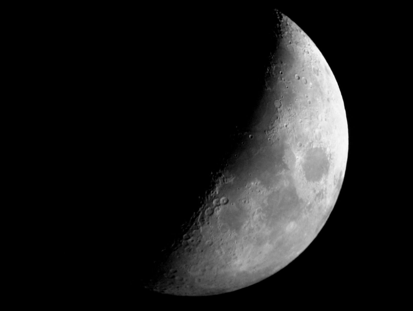 AstroFotoNoticiasGranCanaria: Luna en cuarto creciente