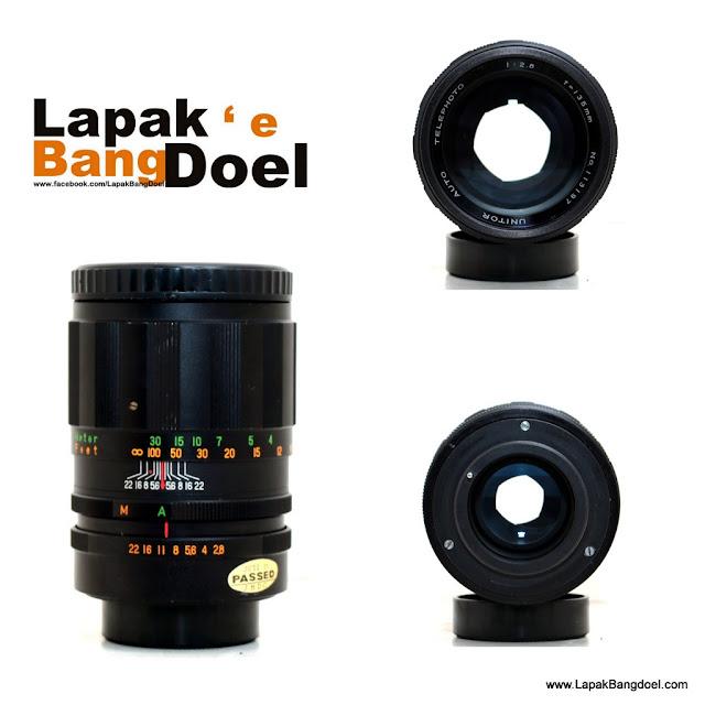 Lensa Manual Unitor 135mm f2.8 M42