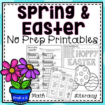 No Prep Spring and Easter printables for Preschool and Kindergarten