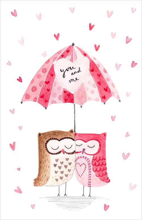 My Owl Barn Valentines Day Illustrations By Felicity French