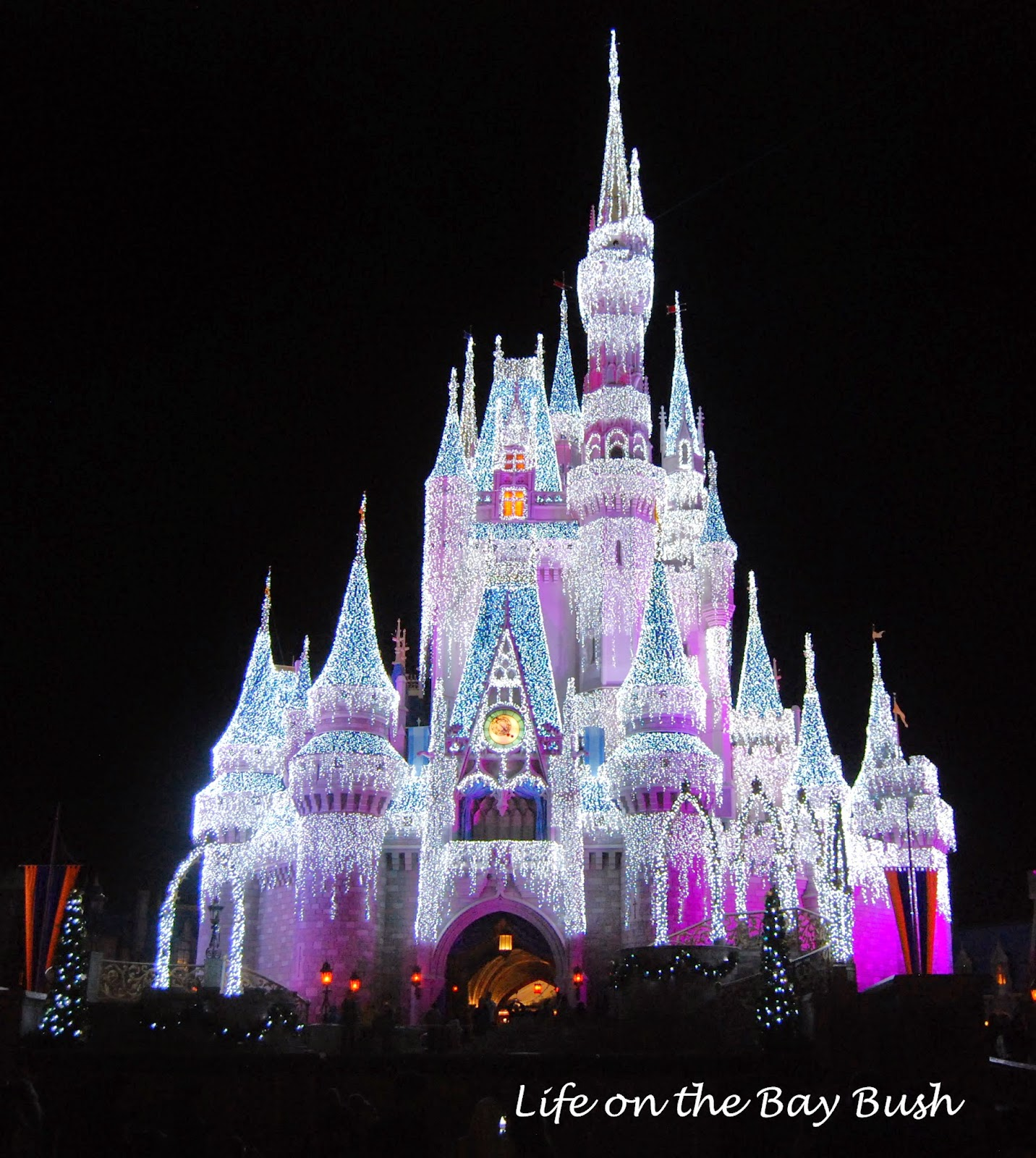 Christmas Castle at the Magic Kingdom