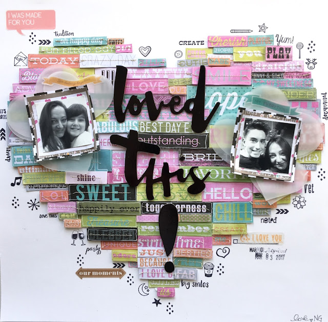Loved This! Scrapbook Layout by Angela Tombari for the blog scrapperdellanotte.it