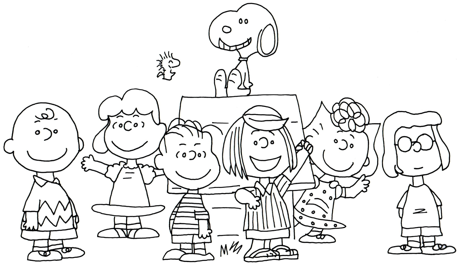 Charlie Brown Characters Coloring Pages. printable snoopy coloring ...
