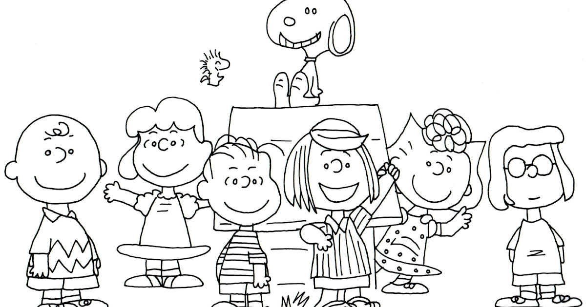 Free Charlie Brown Snoopy and Peanuts Coloring Pages: Free