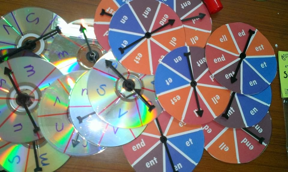 Caroline TEFL Journey: Homemade Spinners 自製遊戲轉針轉盤