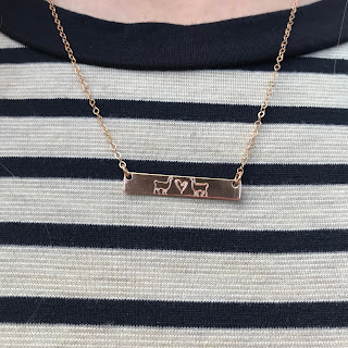 Llama bar necklace