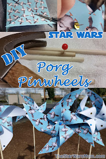 Porg Pinwheel Craft - Star Wars Porgs Windmills