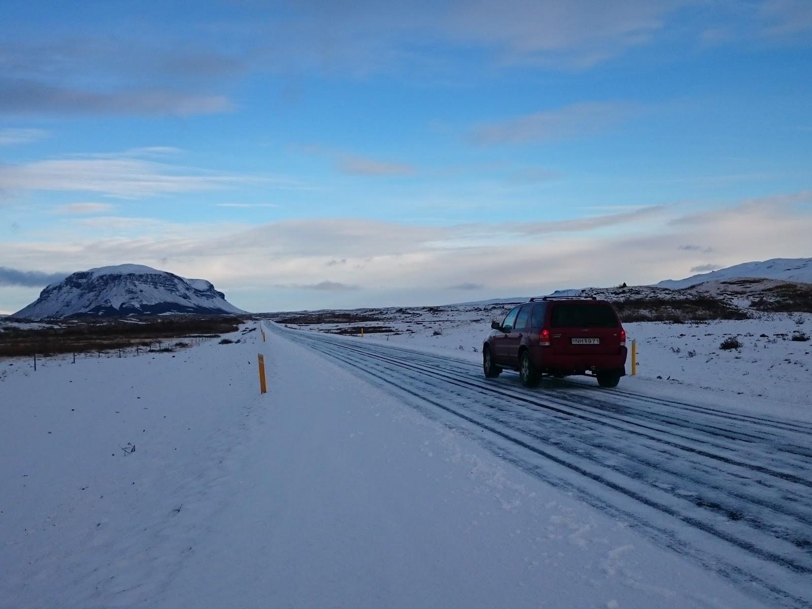 Burfell Islandia, góra, islandzka góra, islandzki krajobraz, zima w Islandii