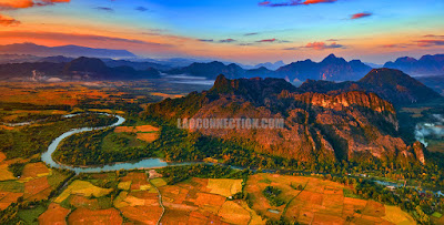 Vangvieng from above