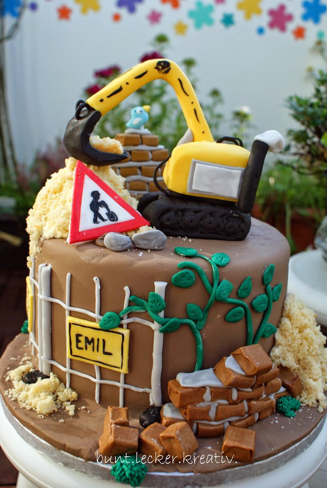 Baggerbaustellen Torte Buntleckerkreativ