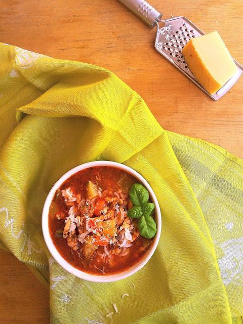 Zupa z mięsem mielonym i cukinią / Stuffed Zucchini Soup