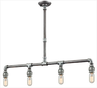 Elk Lighting Cast Iron Pipe Collection Pendant