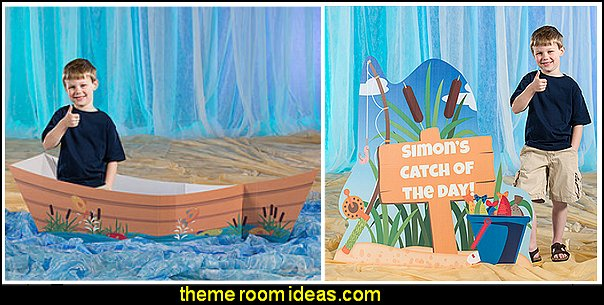 Gone Fishin' Catch of the Day Standee  Gone Fishin' Canoe  Birthday Party Themes