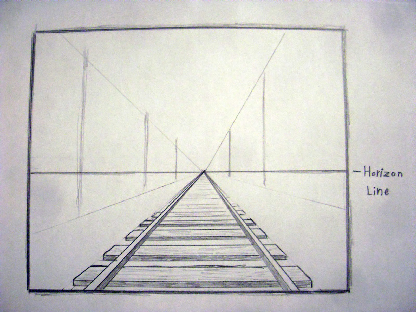 How to draw in perspective - one point | Drawing LessonsEasy One Point Perspective Drawing