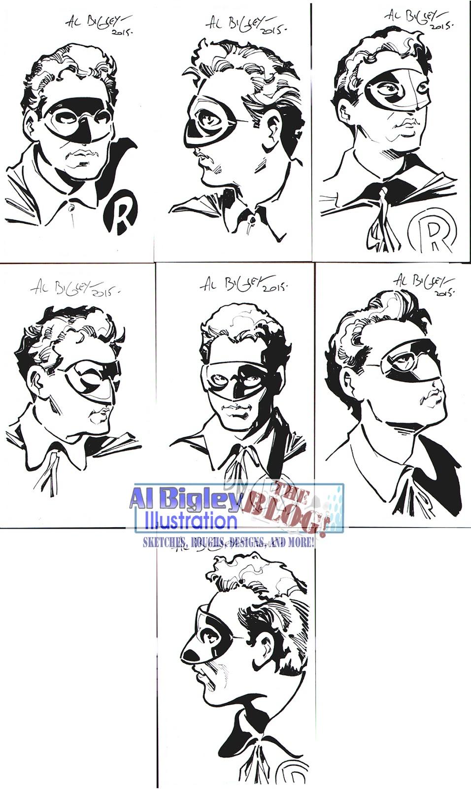 Al Bigley Illustration-The Blog!: 1940s Robin Commissioned