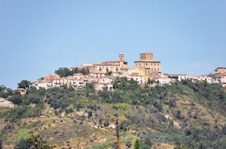 The hilltop town of Popoli in Abruzzo