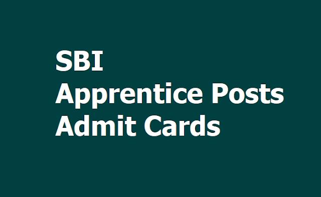 SBI Apprentice Admit Cards 2019