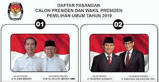 Inilah Visi-Misi Pasangan Capres dan Cawapres: Jokowi-Ma'ruf dan Prabowo-Sandiaga di Pilpres 2019