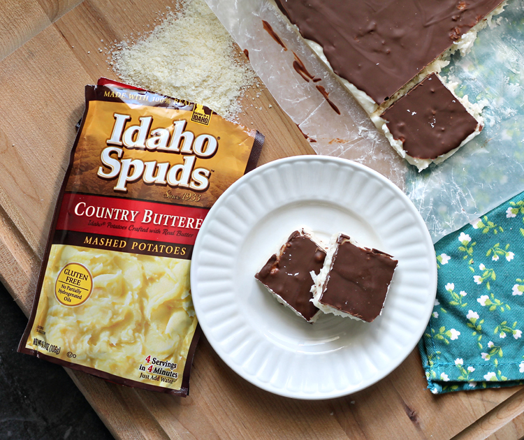 Chocolate and coconut candy