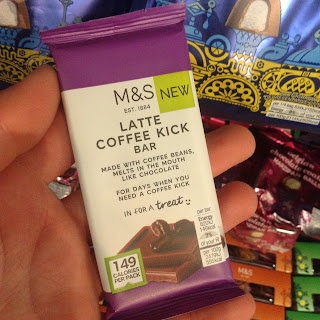 marks and spencer latte coffee kick bar