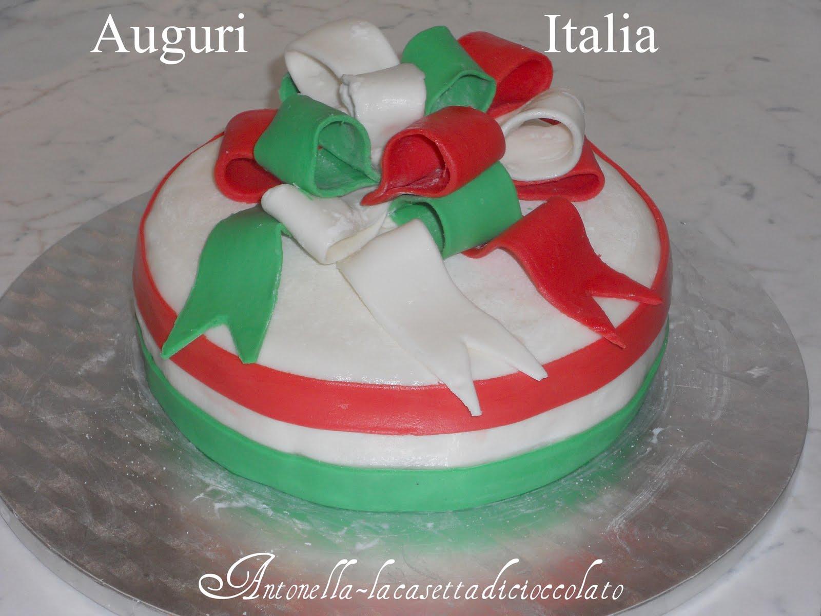 Famoso la casetta di cioccolato: torta auguri Italia TI65