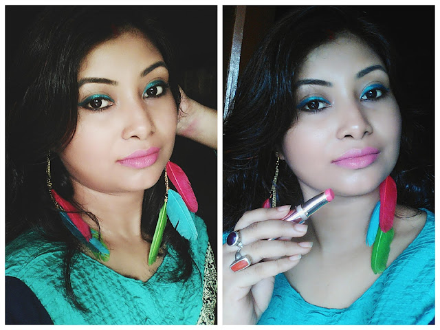 Review and Swatchs of Lakme 9 To 5 Primer + Matte Lipstick in M19 Blush Book And MP7 Rosy Sunday