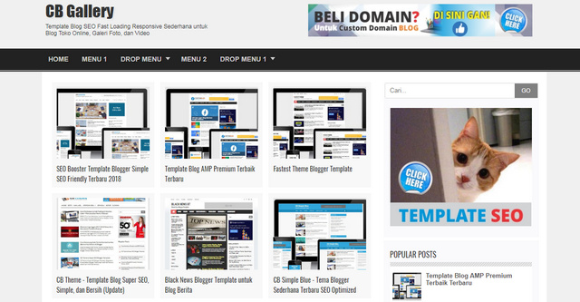 CB Gallery Online Shop And Video Responsive Blogger Templates