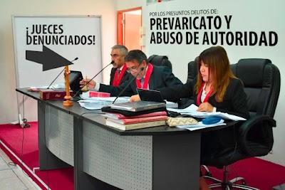 Jueces de la Sala Penal de Huaura son denunciados penalmente.