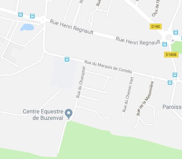 Plan de Rueil-Malmaison avec la rue du Champtier
