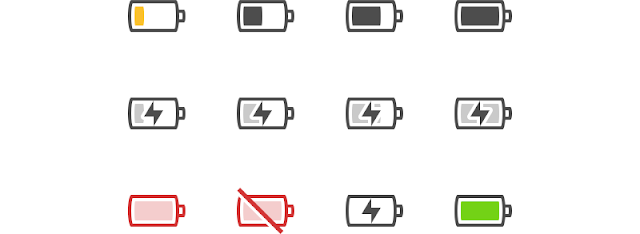 Battery icons elementary