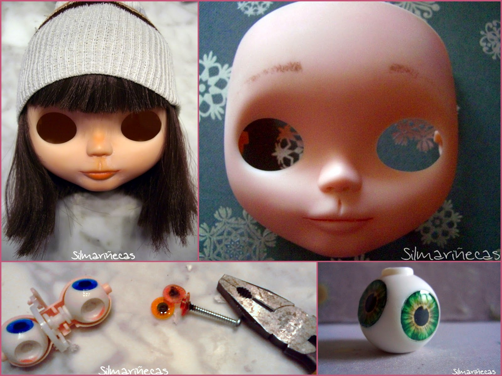 quitar los chips a Basaak doll - blythe