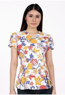 Contoh Model Baju Atasan Batik Terbaru