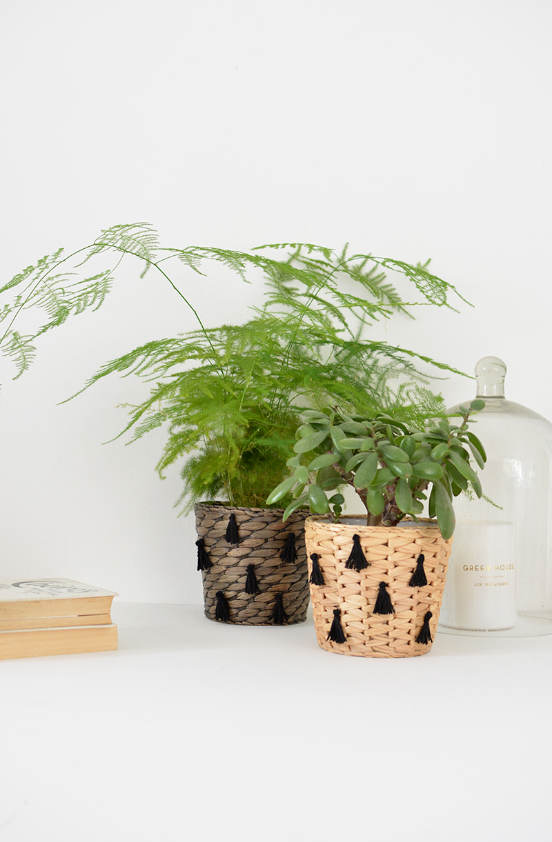 how to make a tasselled planter