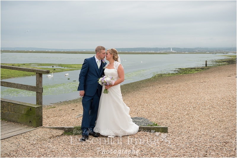 Bride and groom get wed at South Lawn Hotel Lymington and opt for a beach shoot