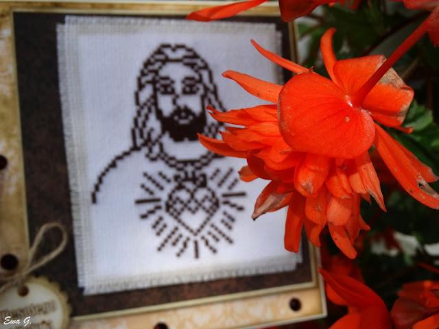 Wielkanocne kartkowanie - kartka z Jezusem