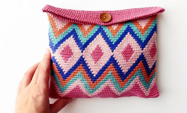 Ergahandmade Tapestry Crochet Bag Diagrams Free Pattern Video