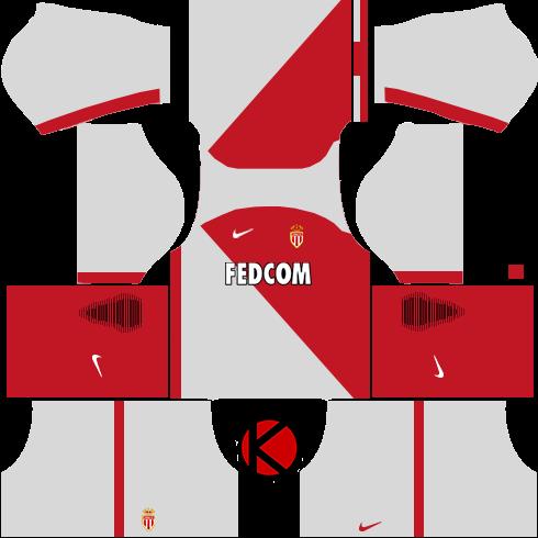 AS Monaco FC Nike Kits 2017 - Dream League Soccer 2017