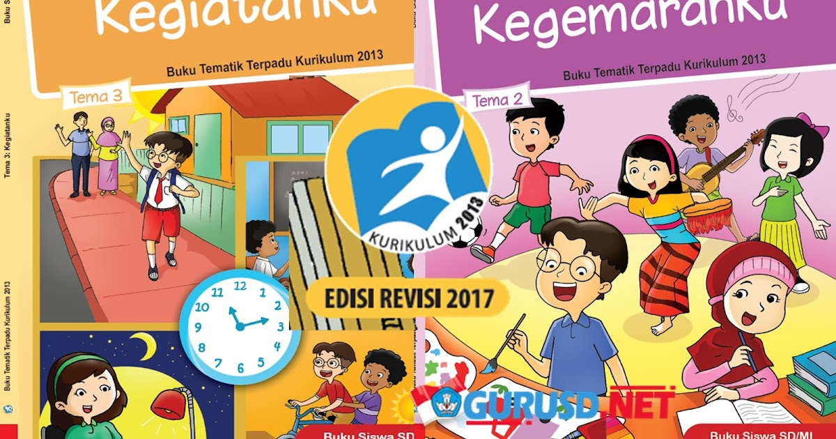 Download Buku Kelas 1 Kurikulum 2013 Revisi 2017  Kurikulum 2013 Revisi
