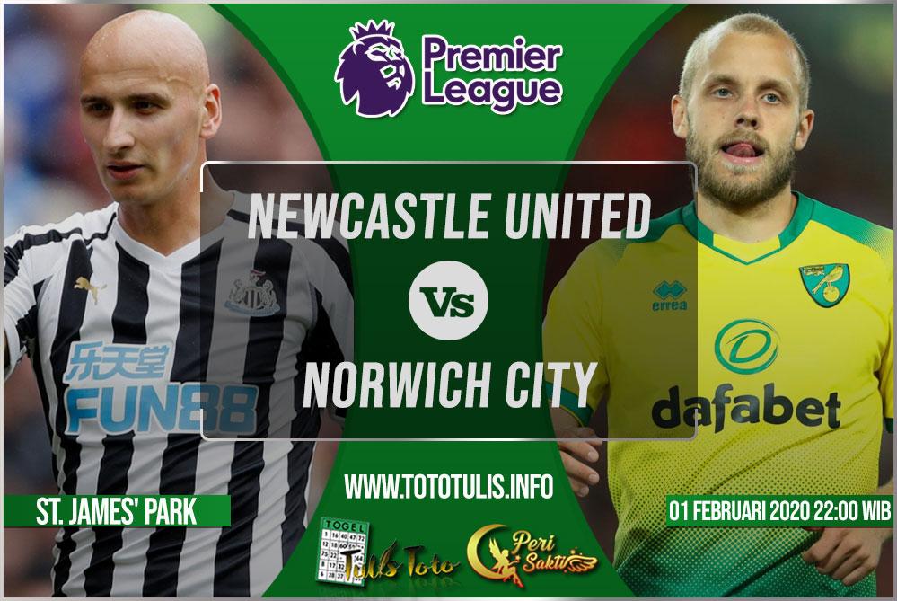 Prediksi Newcastle United vs Norwich City 01 Februari 2020