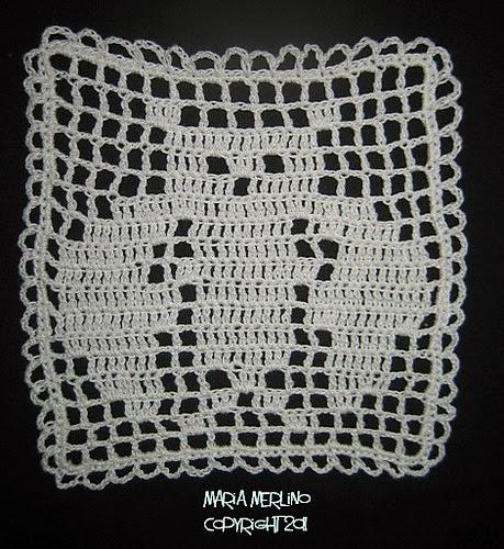 Filet Crochet Crochet Filet Owl Small Doily Afghan Square