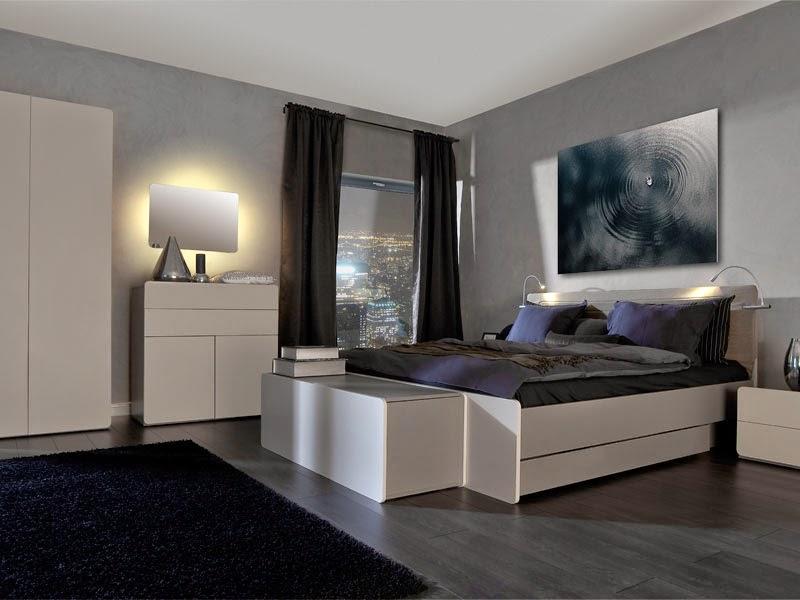 10 Dormitorios decorados en color gris  Ideas para