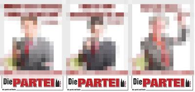 Die Wahlplakate für den Landtagswahlökampf der Die PARTEI werden bald veröffentlicht