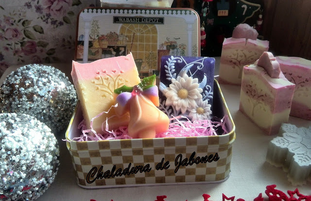Estuches de Jabones para Navidad-Chaladura de Jabone