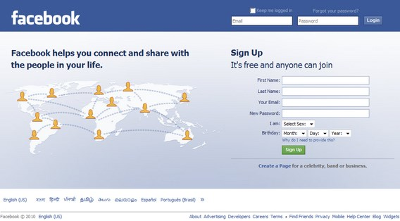 Log Into Facebook Home Page